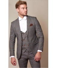 "Marc Darcy ""Jenson""  Grey & Tan Check Blazer"