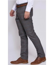 Marc Darcy 'Jenson' - Grey & Tan Check Trousers