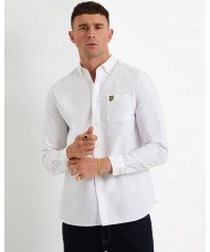 Lyle & Scott Long Sleeve Oxford Shirt In White - LW614VTR
