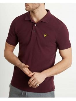 Lyle & Scott Plain Polo Shirt In Burgundy - SP400VTR