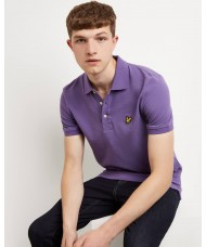 Lyle & Scott Plain Polo Shirt In Violet - SP400VTR