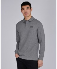 Barbour International Long Sleeved Polo Shirt In Anthracite Marl - MML0943GY57