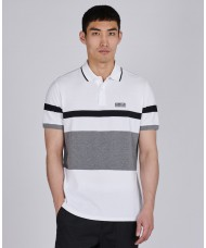 Barbour International Clax Stripe Polo Shirt In White - MML1111WH11