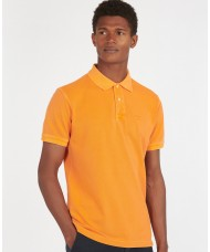 Barbour Washed Sports Polo Shirt In Acid Orange - MML1127OR15
