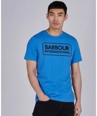 Barbour International Essential Large Logo T-Shirt In Blue - MTS0369BU63