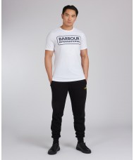 Barbour International Essential Large Logo T-Shirt In White - MTS0369WH11