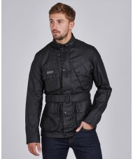 Barbour International Lightweight Waxed Cotton Jacket - MWX1784BK11