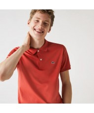 Lacoste Men's Regular Fit Pima Cotton Polo Shirt - In Light Red - DH2050 00 67G