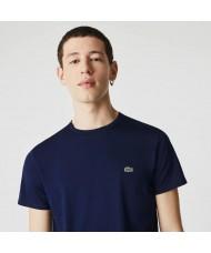 Lacoste Men's Crew Neck Pima Cotton Jersey T-shirt In Navy Blue - TH6709 00 166