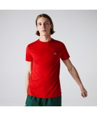 Lacoste Men's Crew Neck Pima Cotton Jersey T-shirt In Red - TH6709 00 240