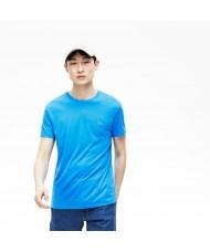Lacoste Men's Crew Neck Pima Cotton Jersey T-shirt In Blue - TH6709 00 PTV