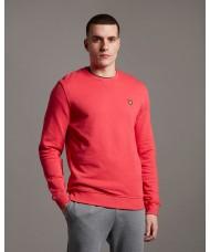 Lyle & Scott Cotton Sweatshirt In  Geranium Pink - ML424VTR