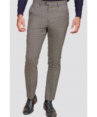 Marc Darcy 'Hardwick' - Navy Tan Tweed Check Trousers