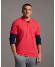 Lyle & Scott Plain Polo Shirt In Geranium Pink- SP400VTR