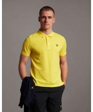 Lyle & Scott Plain Polo Shirt In Buttercup Yellow - SP400VTR