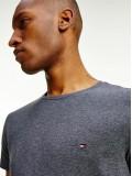 Tommy Hilfiger Stretch Organic Cotton Slim Fit T Shirt In Grey Heather - MW0MW10800