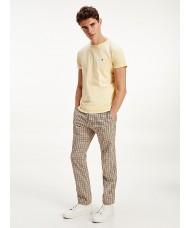 Tommy Hilfiger Stretch Organic Cotton Slim Fit T Shirt In Light Yellow - MW0MW10800