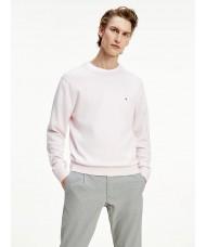 Tommy Hilfiger Organic Cotton Silk Crew Neck Jumper In Light Pink - MW0MW15431