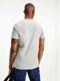 Tommy Hilfiger Organic Cotton Signature Tape Logo T-Shirt In Grey Heather - Style MW0MW16572