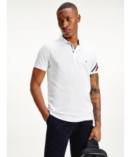 Tommy Hilfiger Signature Detail Slim Fit Polo In White - Style MW0MW17789