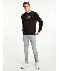 Tommy Hilfiger TH Flex Fleece Sweatshirt In Black - Style MW0MW18299