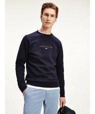 Tommy Hilfiger Essential Organic Cotton Sweatshirt In Navy Blue - MW0MW17383