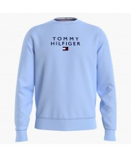 Tommy Hilfiger TH Flex Fleece Sweatshirt In Pale Blue - Style MW0MW18299