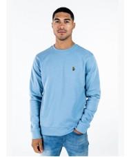 """Luke Sport """"London"""" Crew Neck Sweatshirt In Sky Blue - M560350"""