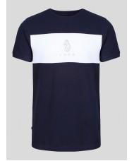 Luke Charlie Barton Crew Neck T Shirt In Navy - M590115
