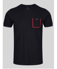 Luke Dr Dolittle Crew Neck T Shirt In Very Dark Navy - M560101