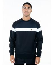 Luke Sport Adam 3 Sweatshirt In Black Grey & White - M590334