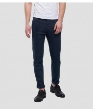 Replay Slim fit Zeumar Hyperchino Color Chino In Navy Blue M9627L.000.8166197