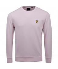 Lyle & Scott Cotton Sweatshirt In Stonewash Pink - ML424VTR