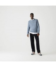 Lacoste Men's Organic Cotton Crew Neck Sweater In Light Blue - AH1985 00 1GF