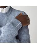Lacoste Men's Organic Cotton Crew Neck Sweater In Light Blue - AH1985 00 1GF