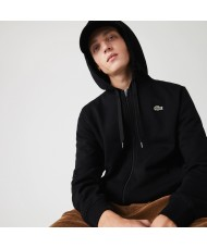 Lacoste Sport Hooded Lightweight Bi-material Sweatshirt In Black - SH1551 00 C31