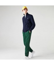 Lacoste Sport Cotton Blend Fleece Full Zip Sweatshirt In Navy Blue - SH1559 00 423