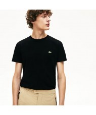 Lacoste Men's Crew Neck Pima Cotton Jersey T-shirt In Black- TH6709 00 031
