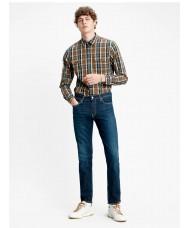 Levi's 511 Comfort Stretch Slim Jeans In Dark Stone Wash Style # 045114102 Color: Biologia - Blue