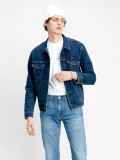 Levi's Trucker Denim Jacket In Dark Blue Style # 723340466