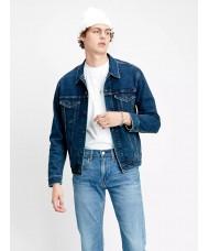 Levi's Trucker Denim Jacket In Dark Blue Style # 723340466