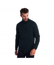 Barbour Essential Lambswool Half Zip Sweater In Seaweed Mix - MKN0339GN95