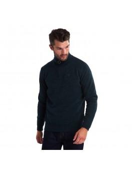Barbour Essential Lambswool Half Zip Sweater In Seaweed Mix - MKN0339GN95