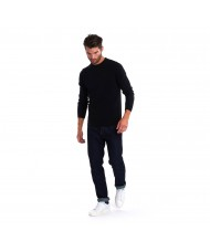 Barbour Essential Lambswool Crew Neck Sweater In Black - MKN0345BK31