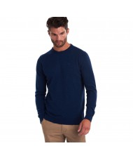 Barbour Essential Lambswool Crew Neck Sweater In Deep Blue - MKN0345BL71