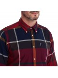 Barbour Dunoon Check Tailored Shirt In Red  MSH4284RE52
