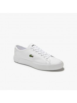 Lacoste Gripshot Leather Trainer in White