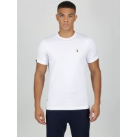 Luke Traffs Crew Neck T Shirt In White - ZM280165