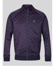 Luke Sport Lord Larry Track Top In Navy Blue - M560371