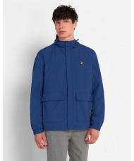 Lyle & Scott Hooded Jacket With Pockets In Indigo Blue - JK1310V